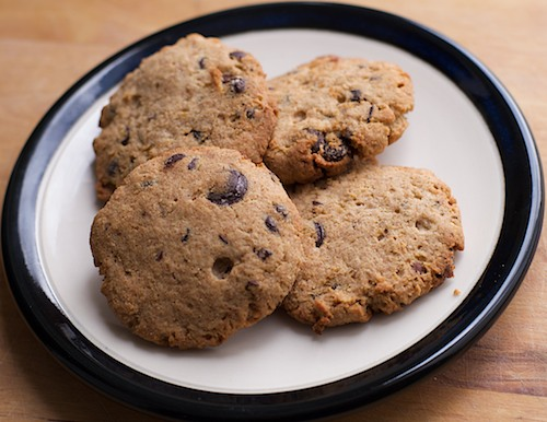 Gluten-free no sugar added chocolate chip cookies